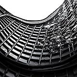 Universales alfombrillas de goma - 4-piezas - negro - inodoras (con delicado aroma de vainilla)
