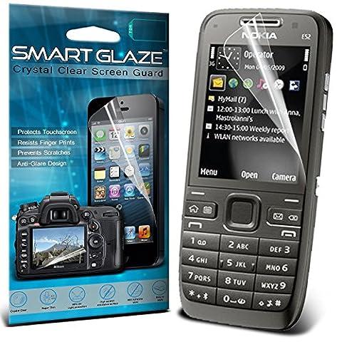 Smart Glaze® Protections d'écran LCD Crystal Clear Premium Packs Avec Chiffon & Demande de carte pour Nokia E63 Pack Of 3