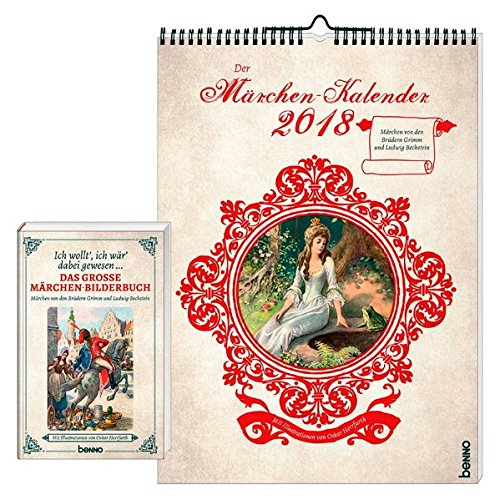 Der Märchen-Kalender 2018: Set Wandkalender und Lesebuch (Märchen Kalender)
