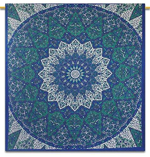 Floreale indiano di cotone blu Tapestry Wall Hanging Dimensione decorazione Boemia completa parete 92X82