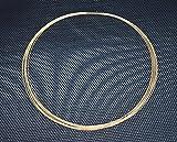 Goldener Choker-Halsreifen Omega-Collier Kette mehrreihig Afrika Stil