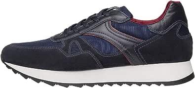 Nero Giardini A901221U Sneakers Uomo in Pelle E Camoscio