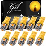 GLL 10pcs Super Bright 194 168 W5W 501 Wedge T10 Bulbs with 5-5050-SMD Chipset Replacement for Car Interior Dome Map…