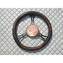 Para adaptarse a un Citroen C3Picasso, Car Steering Wheel Cover–SWC 26m), color negro y marrón de piel sintética