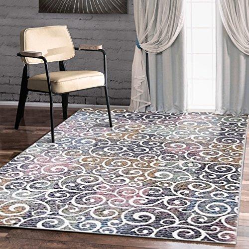 A2z Schnellspanner Teppich Modern Top Qualität (Multi, Pink, elfenbeinfarben 150x 225cm–4'22,9cm X 7' 10,2cm FT) Deco Root Collection Bereich Teppich, perfekt für Wohnzimmer–Esszimmer–Schlafzimmer Teppiche und Teppiche