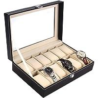 Ohuhu Coffret à Montres, Boite pour Montres et Bracelets, Coffret pour montres avec serrure boîte à montre,12 Slot…