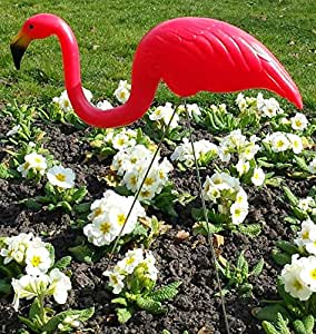 Aspatrius Décoration de jardin en forme de flamant rose