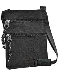 Charmoni® - Sac pochette plate sacoche à bandoulière et sa porte clé cuir  léger et 0e12ce5f2bd