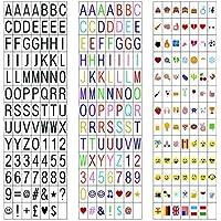 LitEnergy Cinema Sign Incluyendo 270 Cartas Negras, Letras en Color Pastel, Pastel Color Emojis y Símbolos Decorativos Especiales para Uso con Cuaderno Cineal A4