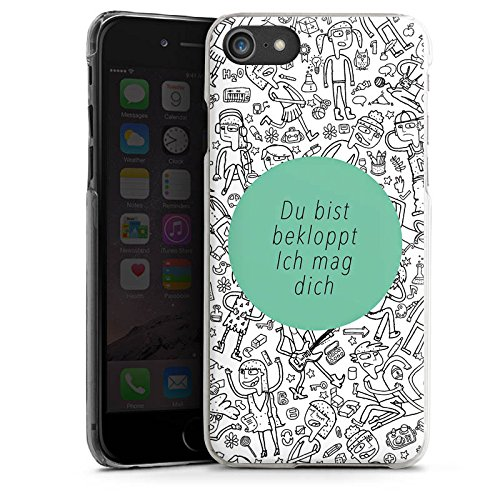 Apple iPhone X Silikon Hülle Case Schutzhülle Verrückt Crazy Sprüche Hard Case transparent