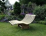 Relaxliege verstellbar,Saunaliege, Holzliege, Wellnessliege, Funktionsliege, 130 cm breit