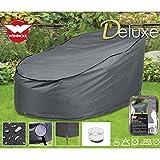 Deluxe Schutzhülle für Rattan- Lounge 200x126cm, Polyester 420D - Gartenmöbel Schutz Hülle Abdeckung Tragetasche Plane