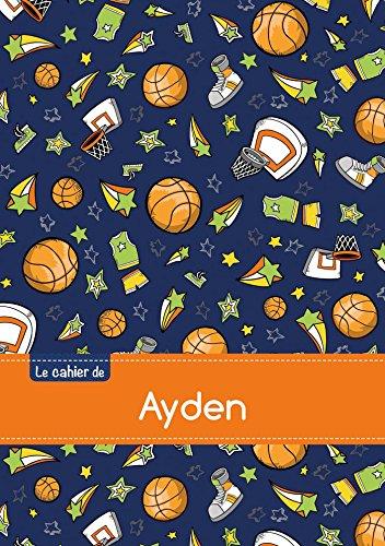 Le cahier d'Ayden - Blanc, 96p, A5 - Basketball