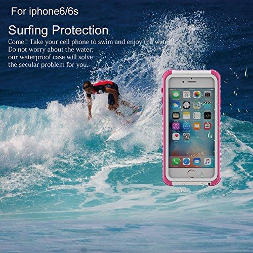 iPhone 6 Plus/6S Plus Hülle,UltraSlim Thermo Sensor Fluoreszierende Thermo Hitze Induktion matt weich PC Schutzhülle Handyhülle Tasche für Apple iPhone 6 Plus/6S Plus 5.5 Zoll mit Farbwechsel Back Cas waterproof-Rosa + Weiß