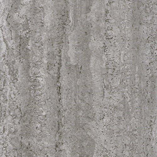 *Klebefolie INDUSTRIAL-OPTIK BETON Dekofolie Möbelfolie Tapeten selbstklebende Folie, PVC, ohne Phthalate, grau, 67,5cm x 2m, 95µm (Stärke: 0,095 mm), Venilia 53145*