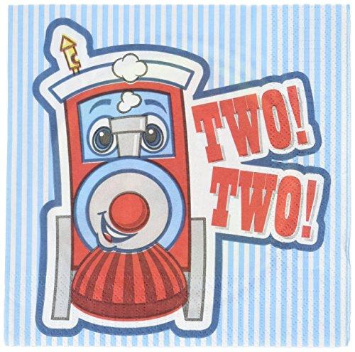 Party-Destination 159617 Two-Two Zug 2. Geburtstag Lunch-Servietten
