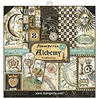 """Stamperia Double-Sided Paper Pad 12""""X12"""" 10/Pkg-Alchemy, 10 Designs/1 Each"""