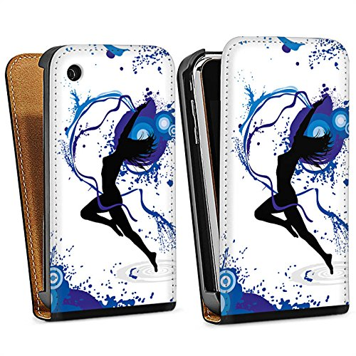 Apple iPhone 6 Housse Étui Silicone Coque Protection Danser Danse Féminin Sac Downflip noir