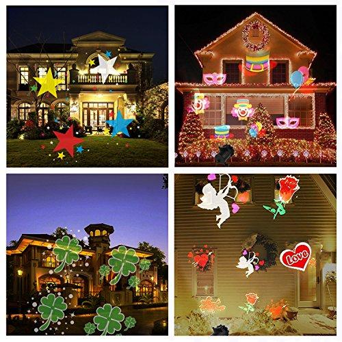 Led Weihnachtsbeleuchtung Strahler.Fengniao Led Projektor Weihnachten Licht Mit 16 Wech