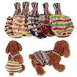 RC GearPro Waschbare 2-Pack-Hundewindeln, Haustier-Hygienehose mit Hosenträger für Hündinnen, Farbe zufällig (XL)