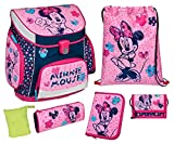 Schulranzen Set Campus up, Disney Minnie Mouse, 6 teilig