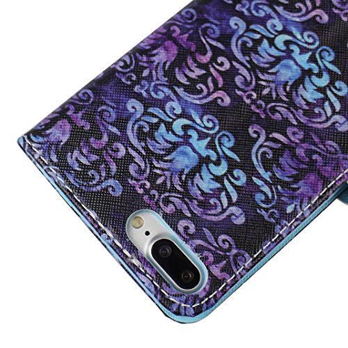 iPhone 7 Plus Tasche Leder, iPhone 7 Plus Ledertasche, iPhone 7 Plus Case, Moon mood® Ledertasche für Apple iPhone 7 Plus (5.5 Zoll) , PU Leder Cover Hülle Folio Handyhülle Gemalt Muster Premium Bumpe 4 Totem A