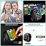 Bluetooth Smartwatch Waterproof AxCella Smartwatches Support SIMTF Card Smart Watch Band Bracelet With Pedometer Sleeping Monitor Facebook Whatsapp Smart Watch Andorid Samsung Huawei Sony HTC Etc