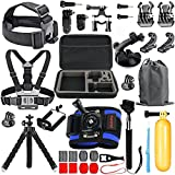 HAPY Sport - Action - kamera Accessories Kit Für Gopro Hero6,5 schwarz, Hero (2018), Hero 5,4,3, Hero Session, Gopro Fusion, Dbpower, Akaso, Apeman, SJCAN, - Kopf - Kamera -, Brust - Gurt