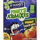 SAINT MAMET Gourdes Atomixés Pomme Fraise Kipik - Lot de 4