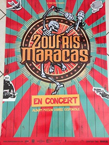 Zoufris Maracas-Gefängnis in Gold, 70 x 100 Cm/Poster Poster