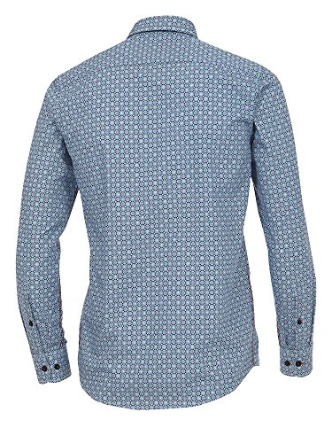 CASAMODA Herren Hemd 472652500 Easy Care 100% Baumwolle - Casual Fit Türkis