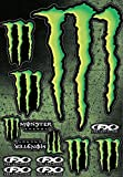 Tabla de 12 adhesivos Monster Energy Factory Effex FX gran tabla de 45 x 30 cm Pegatina moto velo deco Gros adhesivos Monster Energy de 31 x 22 cm