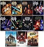Star Wars 1-10 The Complete Saga & Bonus DVD Collection - Star Wars 1 - The Phantom Menace / Star Wars 2 - Attack of the Clones / Star Wars 3 - Revenge of the Sith / Star Wars 4 - A New Hope / Star Wars 5 - The Empire Strikes Back / Star Wars 6 - Return of the Jedi / Star Wars 7 - The Force Awakens / Star Wars 8 - Rogue One: A Star Wars Story / Star Wars 9 - The Last Jedi / Star Wars 10 - Solo: A Star Wars Story + Bonus Material + Extras