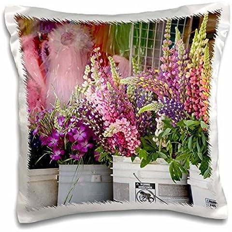 Danita Delimont - Markets - WA, Seattle, Pike Place Market flowers - US48 JWI2207 - Jamie and Judy Wild - 16x16 inch Pillow Case (pc_96182_1)