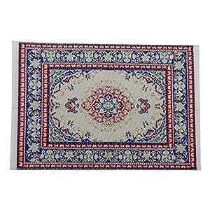 Sungpunet 12.01 Puppenhaus Miniatur-Möbel Teppich Teppich 24 x 15 cm