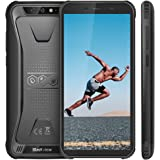 "Rugged Smartphone, Blackview BV5500 Outdoor Smartphone, Dual Sim da 4400mAh, 16GB + 2GB, 32GB Espandibili, 8MP+2MP, Android 8.1, Cellulare Antiurto 5.5"" HD+ Face ID, GPS/Bussola/WIFI/Hotspot[Italia]"