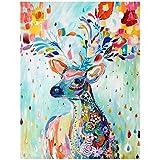 Rrimin DIY 5D Colour the deer Diamond Sticker Cross Stitch Painting Home Decor 30*37cm