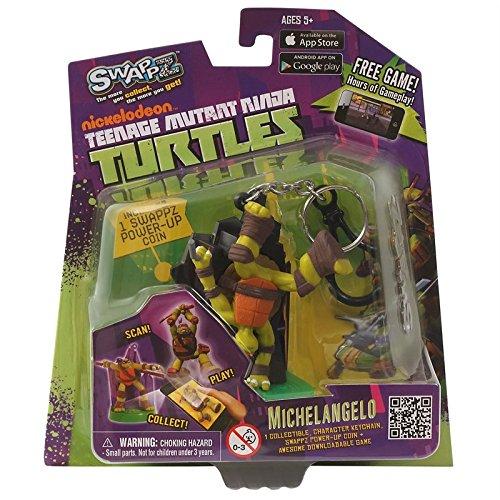 Teenage Mutant Ninja Turtles 12313 - SwappZ - Michelangelo Stars, Spielfigur für App-Spiel mit 3 Power-Up (Power Turtle Ninja)