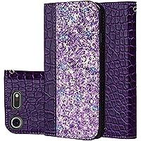 """für Smartphone Sony Xperia XZ1 Hülle, Leder Tasche für Sony Xperia XZ1 (5.2"""") Flip Cover Handyhülle Bookstyle mit Magnet Kartenfächer Standfunktion"""