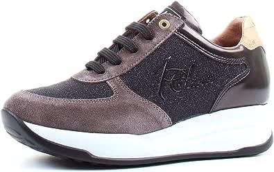 ALVIERO MARTINI Donna Sneakers Classica con Logo e Ricamo in Lurex Carbone MOD. 0428 0218