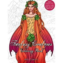 Fantasy Creatures Colouring Book: Creative Art Therapy For Adults: Volume 7 (Colouring Books for Grownups)