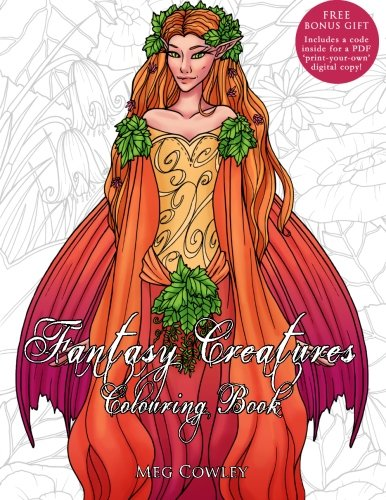 Fantasy Creatures Colouring Book For Adults