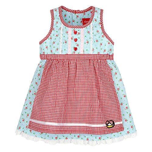 BONDI Dirndl, Blümchen blue 104 Tracht Baby Mädchen Artikel-Nr.85707