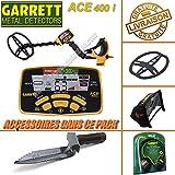 Garrett - Détecteur De Métaux Ace 400 i avec 3 Accessoires Inclus (casque audio, protège disque, protège pluie boîtier)+ Couteau De Fouille