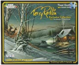 White Mountain Cardboard Jigsaw Puzzle Terry Redlin 1000 Pieces 24-inch x 30-inch, Evening