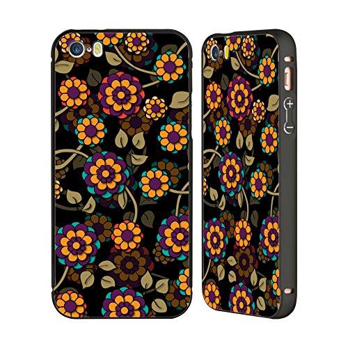 Ufficiale Shelly Bremmer Giardino Estivo Fiori Nero Cover Contorno con Bumper in Alluminio per Apple iPhone 6 Plus / 6s Plus Nel Buio