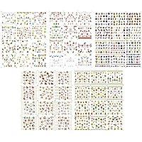 Frcolor 5 Unidades Pegatinas de Uñas de Navidad de Halloween Nail Art Stickers Nail Art Tips calcomanías de uñas para la fiesta