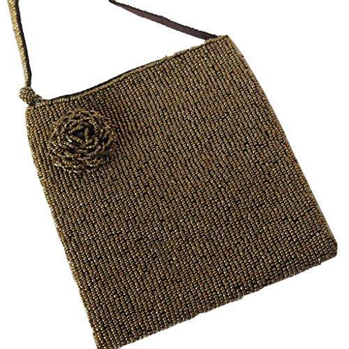 Paillettes couverte sac parti, sac à bandoulière, sac cross-corps, or