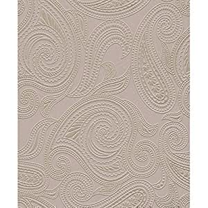 barbara becker rasch tapete paisley motiv muster struktur metallische tapete lila silber. Black Bedroom Furniture Sets. Home Design Ideas