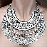 nabati New Fashion Silber Münzen Statement Lätzchen Chunky Choker Halskette Anhänger für Frauen Mädchen